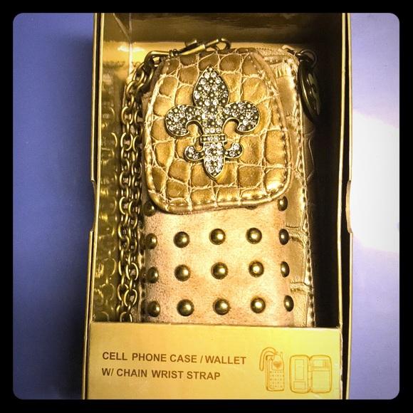 Kathy Van Zeeland Handbags - Cell phone case/Wallet with chain wrist strap
